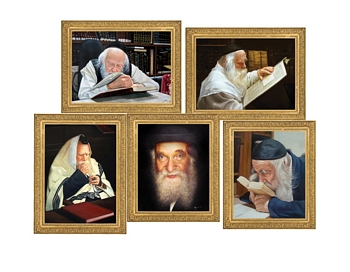 Five 8x10 Gedolim Pictures