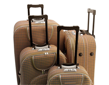 Handsome 4-Piece Upright Luggage Set